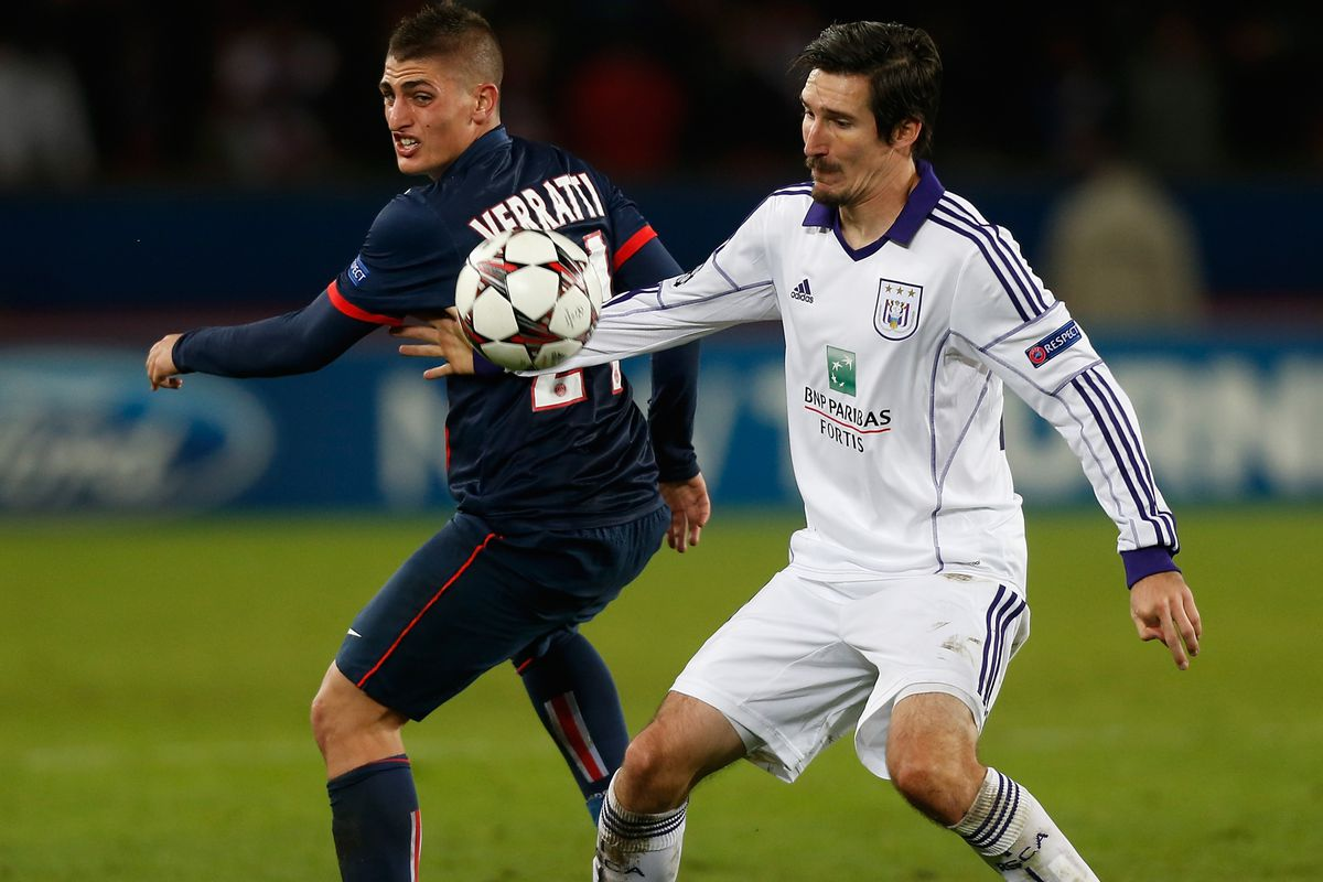 Kljestan in Champions League action against PSG this season.