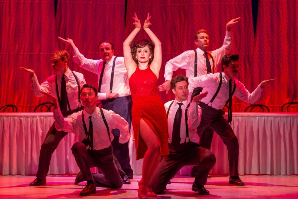 """Rose (played by Michelle Aravena) dances up a storm with the Shriners int he Drury Lane Theatre production of """"Bye Bye Birdie."""" (Photo: Brett Beiner)."""