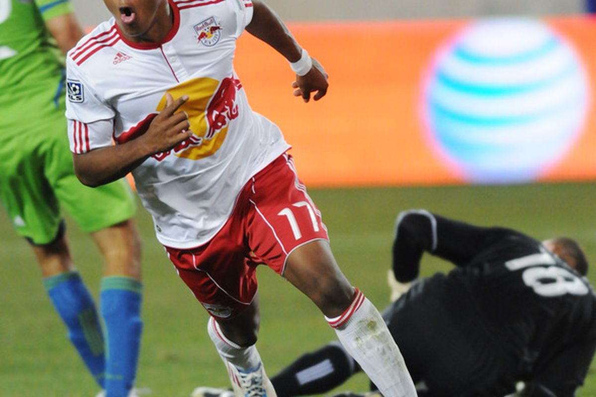 <strong>Juan Agudelo</strong> and other members of the New York Red Bulls who had been on international duty will be available tonight against the Houston Dynamo. (Photo by Jonathan Fickies/Getty Images for New York Red Bulls)
