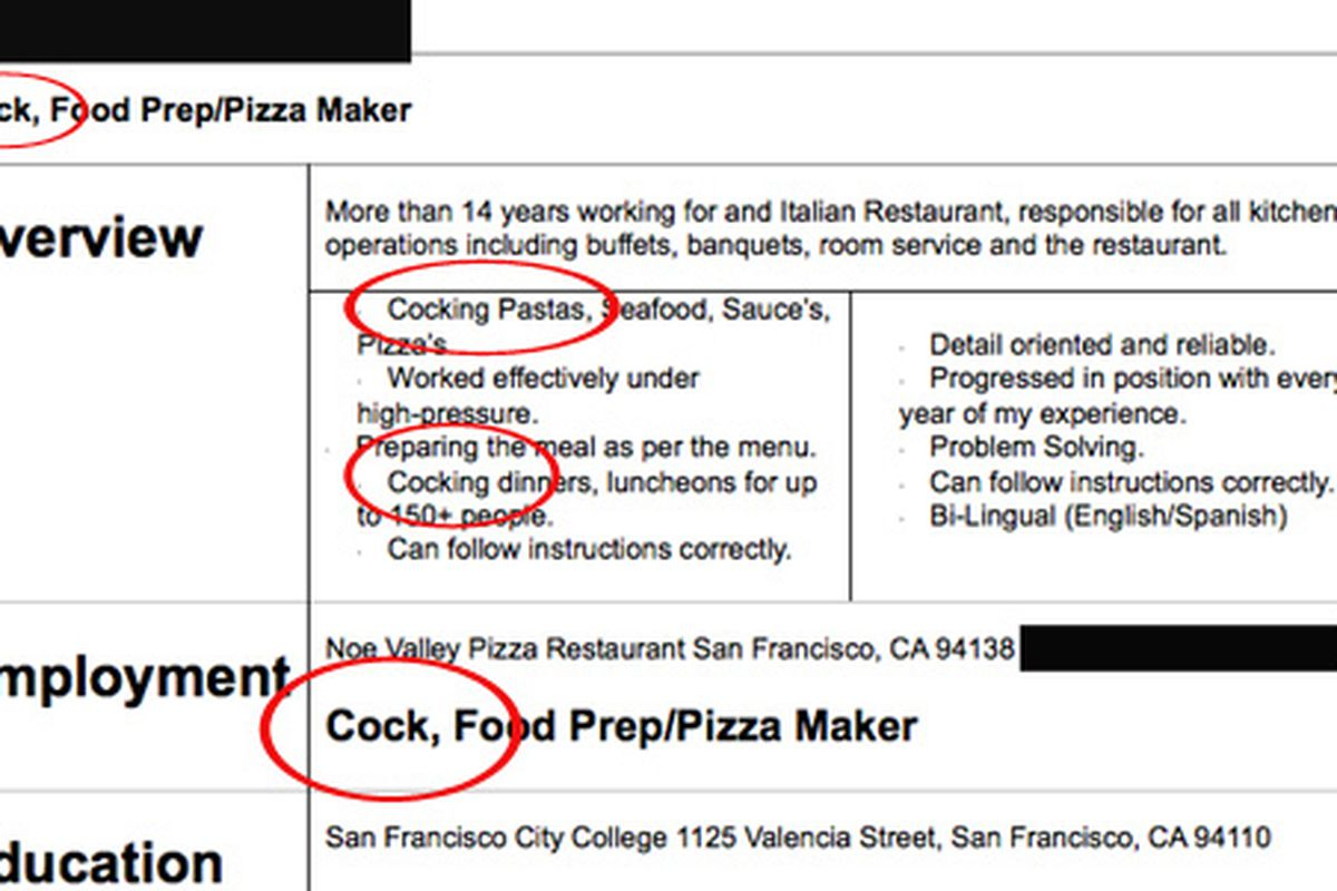How Not To Apply For A Line Cook Job Eater Sf