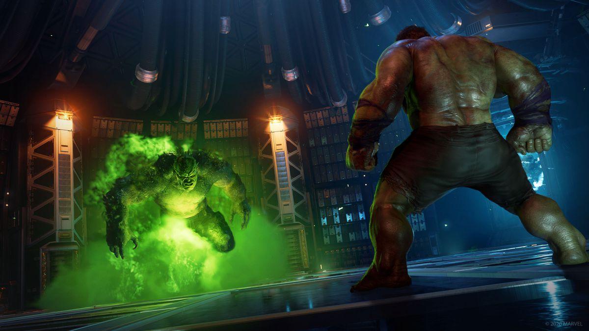 Abomination preparing to attack Hulk in Marvel's Avengers