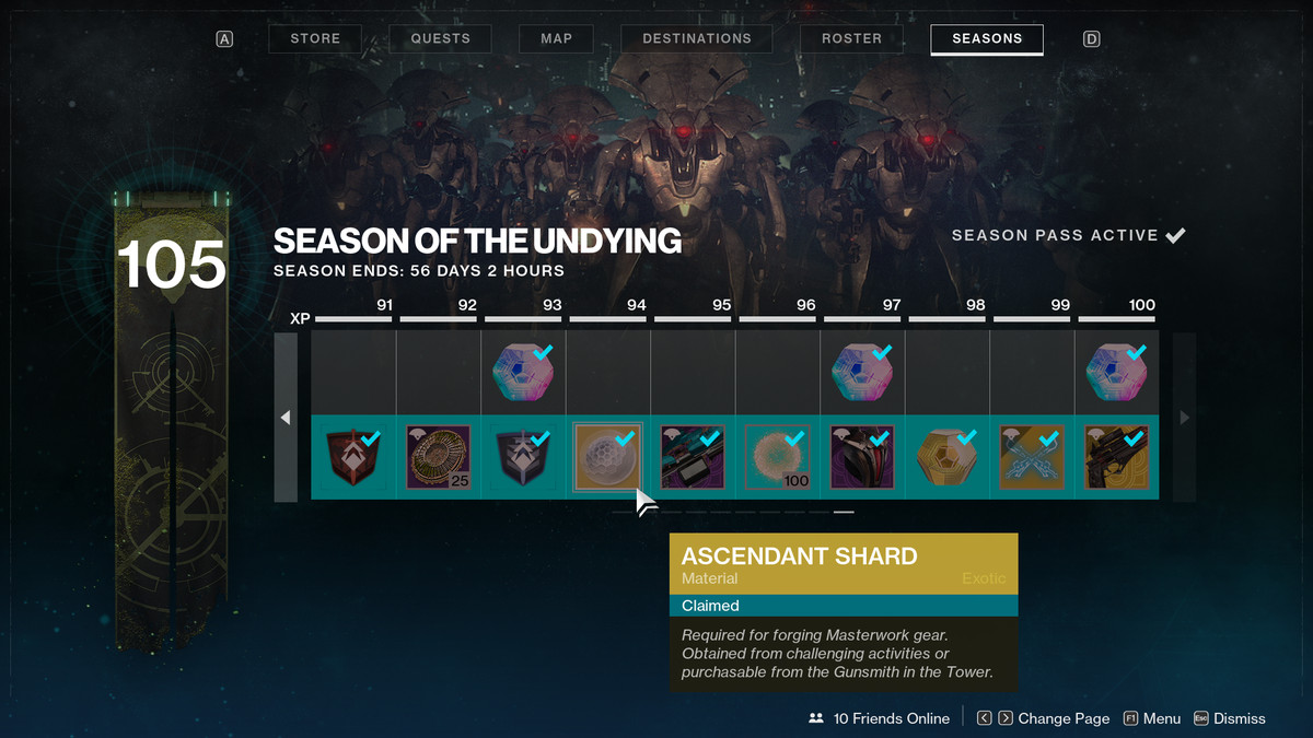 Destiny 2 Season of the Undying pass