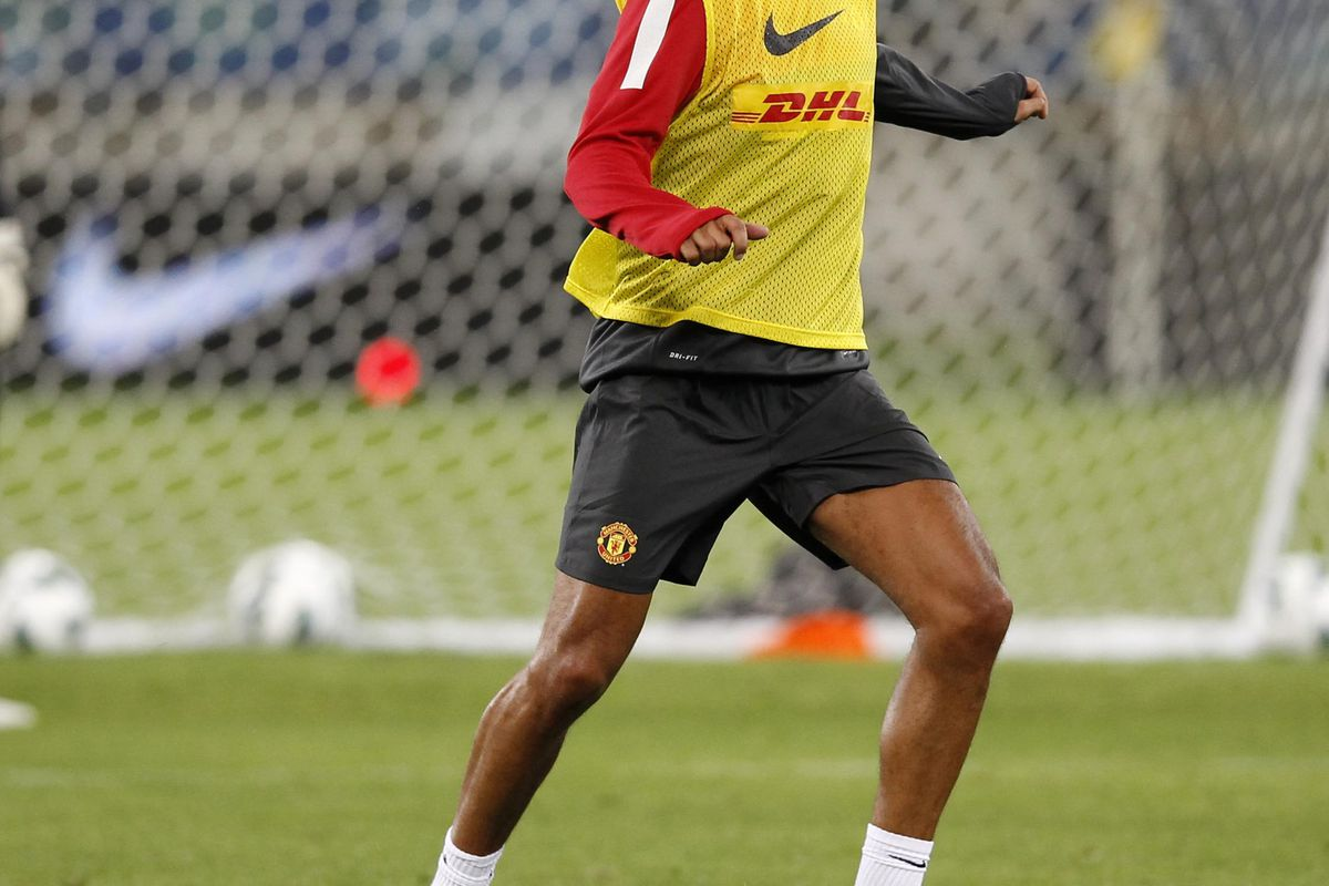 Durban, South Africa. - JULY 17:   Rio Ferdinand during the Manchester United training session at Moses Mabhida Stadium on July 17, 2012 in Durban, South Africa..(Photo by Anesh Debiky/Gallo Images/Getty Images)