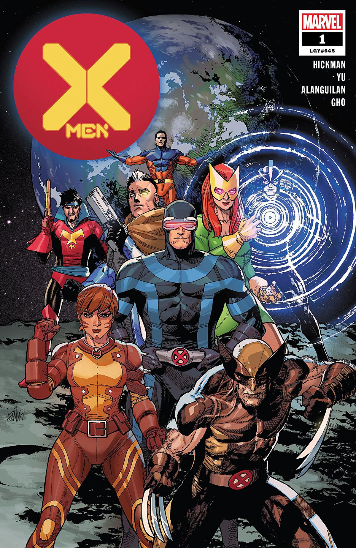 Cyclops and family on the cover of X-Men #1, Marvel Comics (2019).