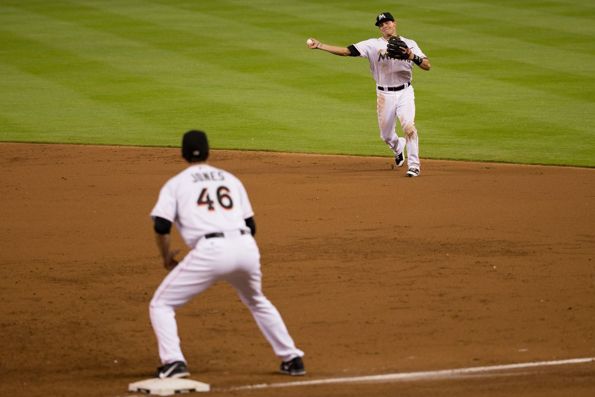 With Derek Dietrich gone, who is the Marlins' new first baseman?