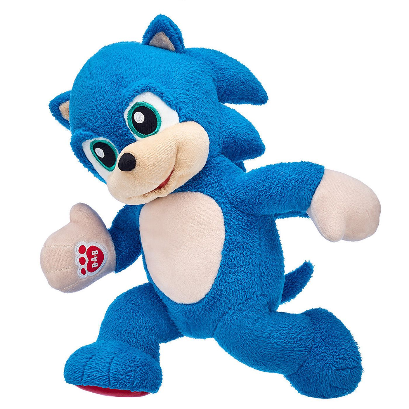 Build A Bear Sonic The Hedgehog Stuffed Animal Comes With Bare Feet Polygon