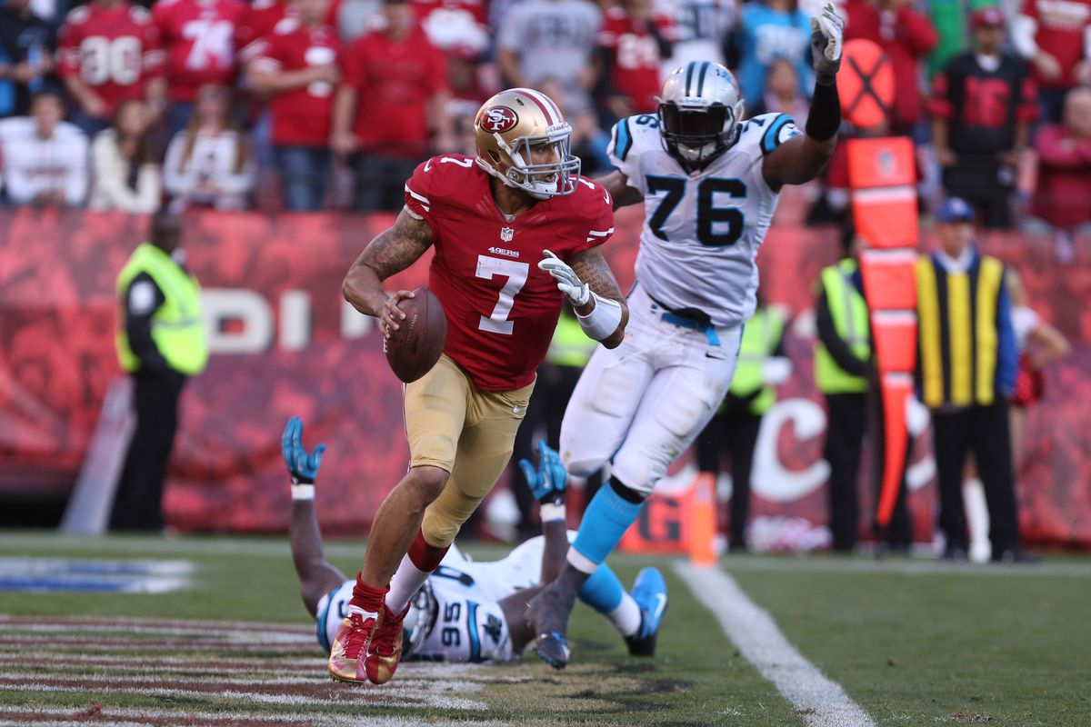 Colin Kaepernick and the 49ers will look to get revenge over the Panthers this weekend.