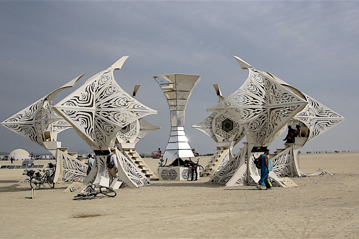 An Actual Fire Is Burning Close to Burning Man
