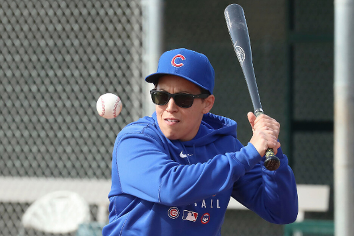 Coach Rachel Folden was working with the Cubs at spring training before the coronavirus outbreak halted activities.