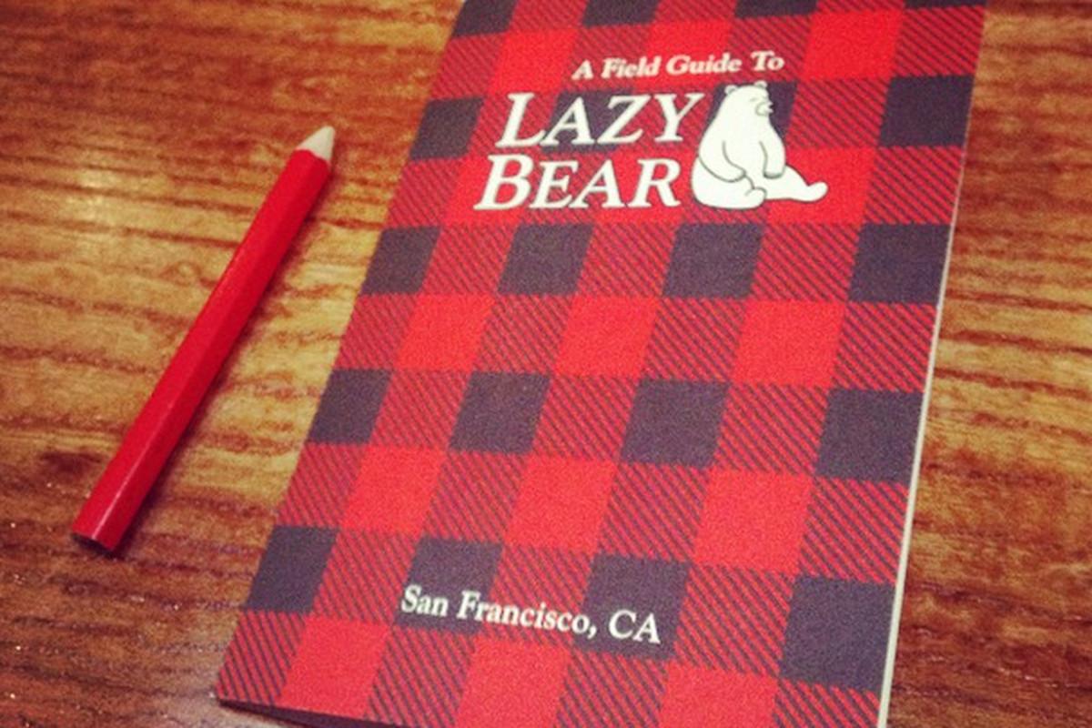 The menus at Lazy Bear.