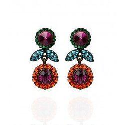 """Layla sunflower <a href=""""http://www.aftershockplc.us/accessories/layla-earrings.html"""">earrings</a>, $45"""