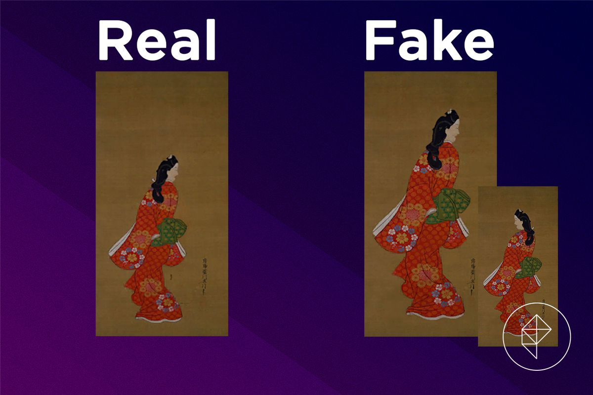 A comparison of the real and fake Graceful Painting