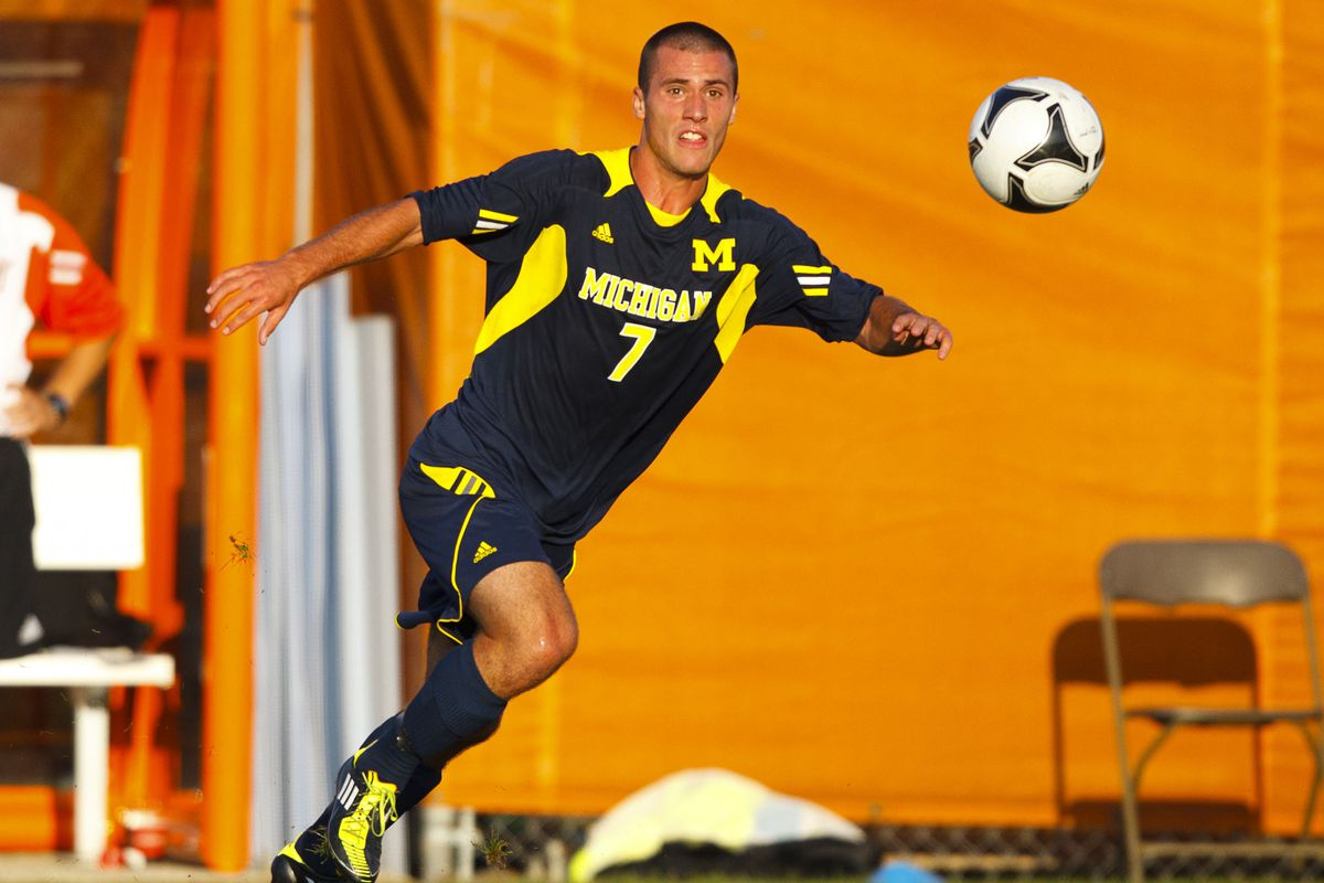 Tyler Arnone playing for the University of Michigan in 2011