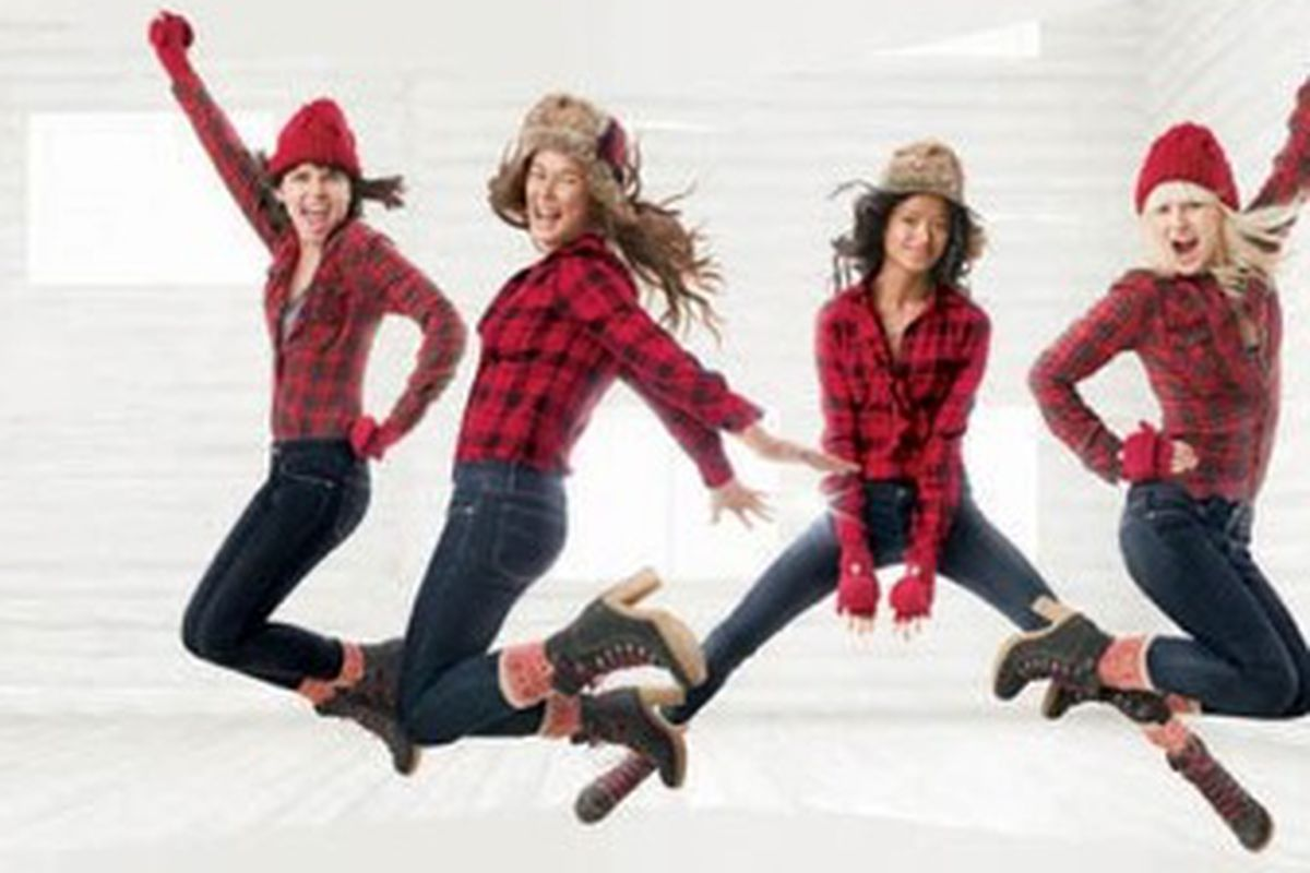 """The Barney's Co-Op boots are drawing more attention than the clothes. Image via <a href=""""http://latimesblogs.latimes.com/alltherage/2009/12/gap-misses-the-boot.html"""">All the Rage</a>."""