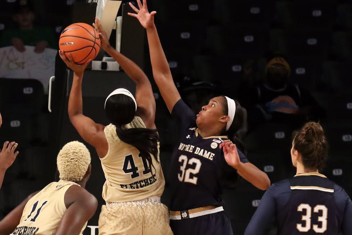 COLLEGE BASKETBALL: JAN 07 Women's - Notre Dame at Georgia Tech