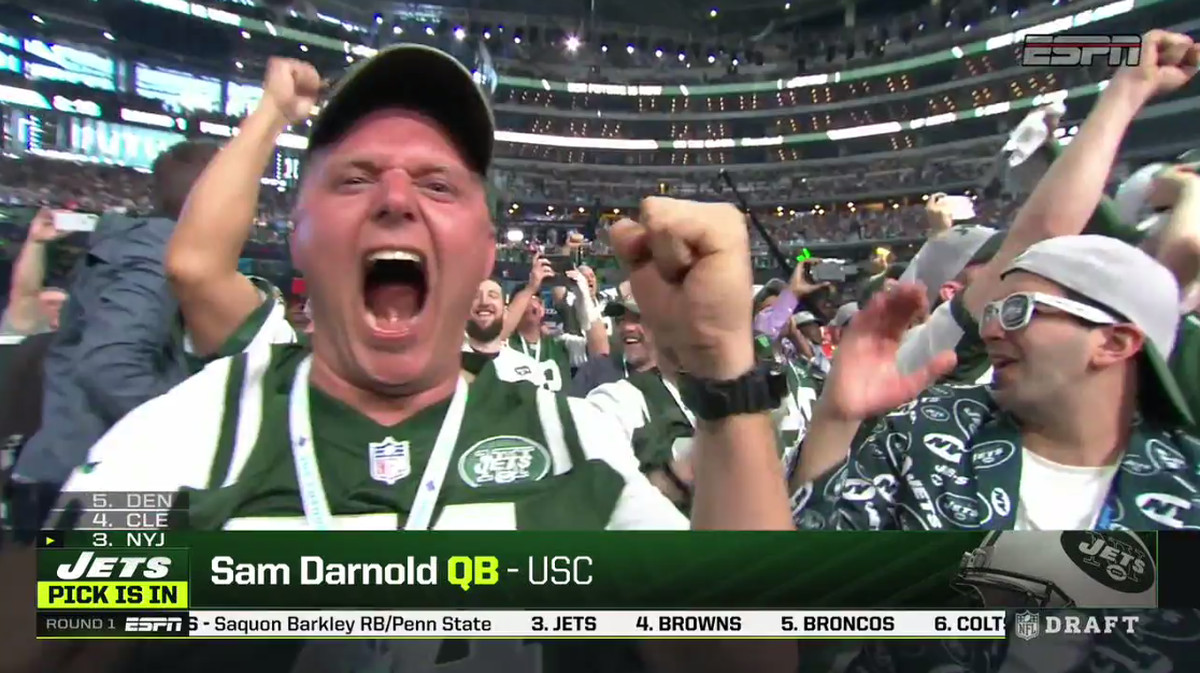 Image result for sam darnold jets