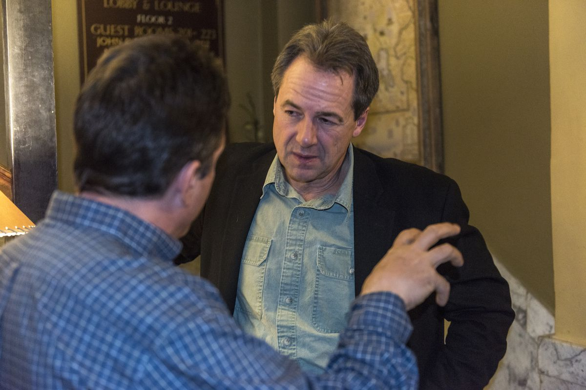Montana Governor Steve Bullock campaigns for local democrats