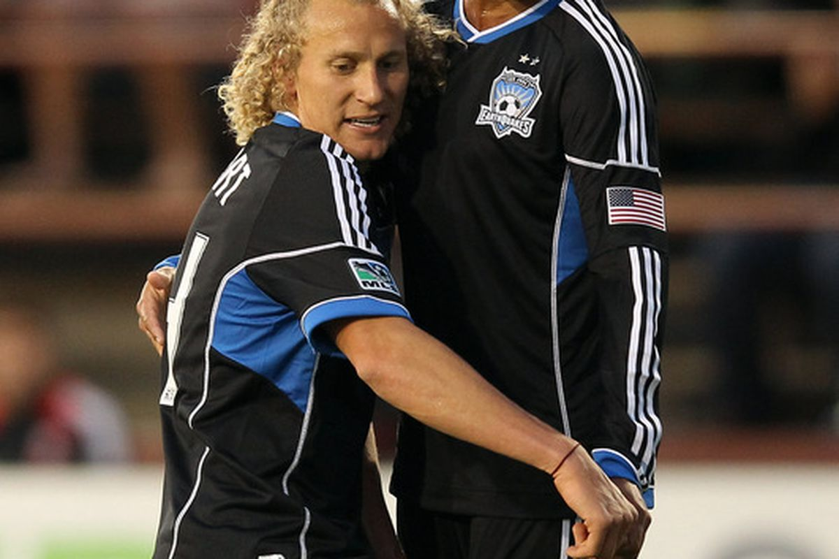 San Jose's not-dynamic, but prolific duo should start in their Open Cup match tonight.  (Photo by Ezra Shaw/Getty Images)