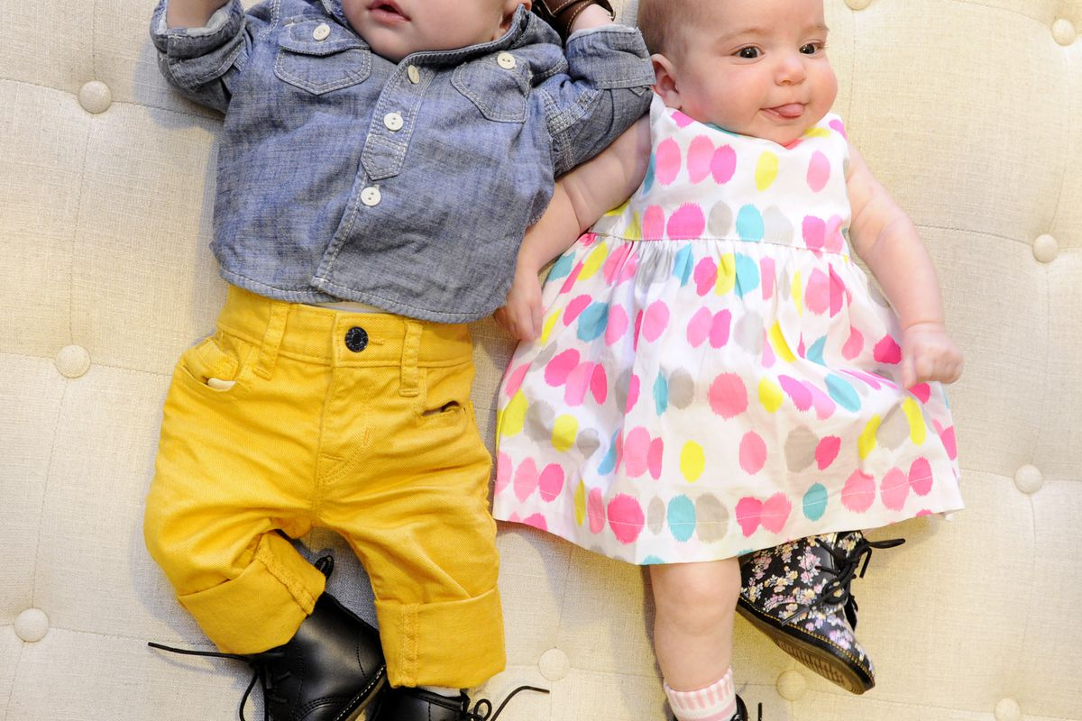"""Aiden on the left and Sloane on the right modeling Dr Martens DM Bootie in black and floral. All photos:<a href=""""http://jamesatkinsphotos.com/""""> James Atkins Photography</a>"""