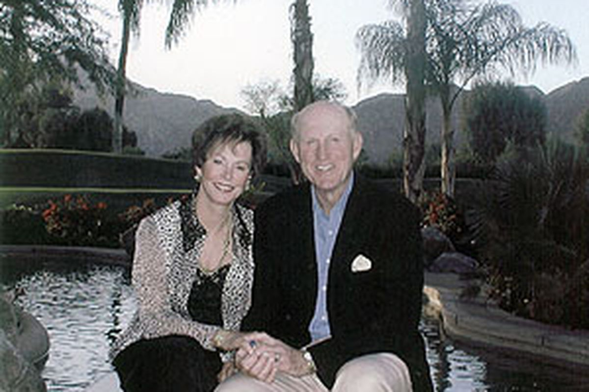 <strong>Former Missouri head coach Norm Stewart, pictured with wife Virginia. </strong>