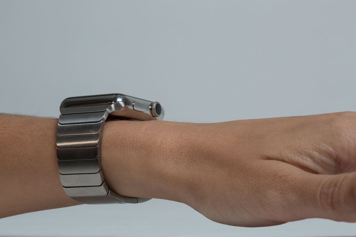 Apple Watch is sleek-looking but thicker than expected.