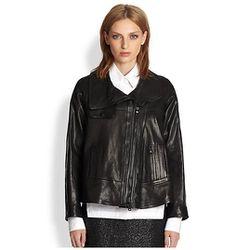 Leather jacket, $398