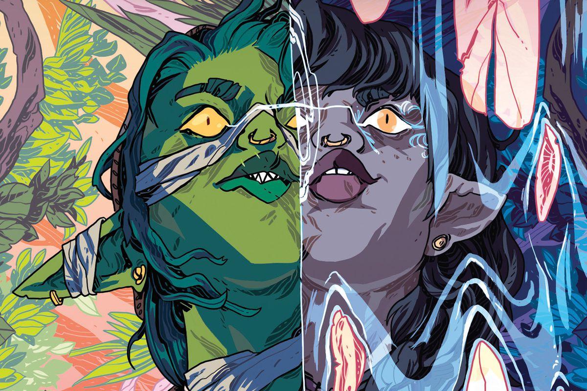 Veth turns into Nott in cover art for Nott the Brave.