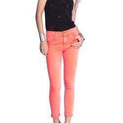 "<b>Joe's Jeans</b>  The Skinny Neon Rolled Highwater Jean, <a href=""http://www.joesjeans.com/THE-SKINNY/-5749021159552774148/Product?sku=IWD95581-24-HLR"">$169</a>"