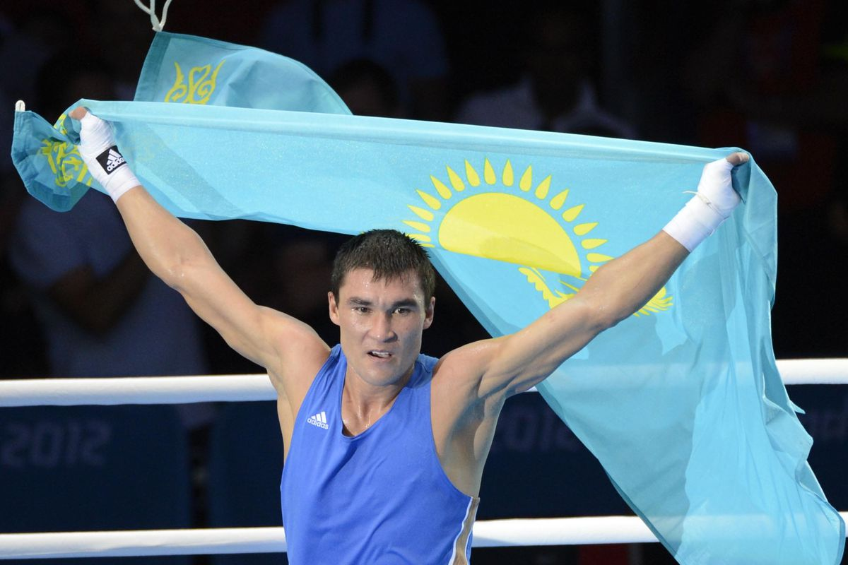 Serik Sapiyev of Kazakhstan won welterweight gold as well as the Val Barker Trophy in London. (Photo by Richard Mackson-USA TODAY Sports)