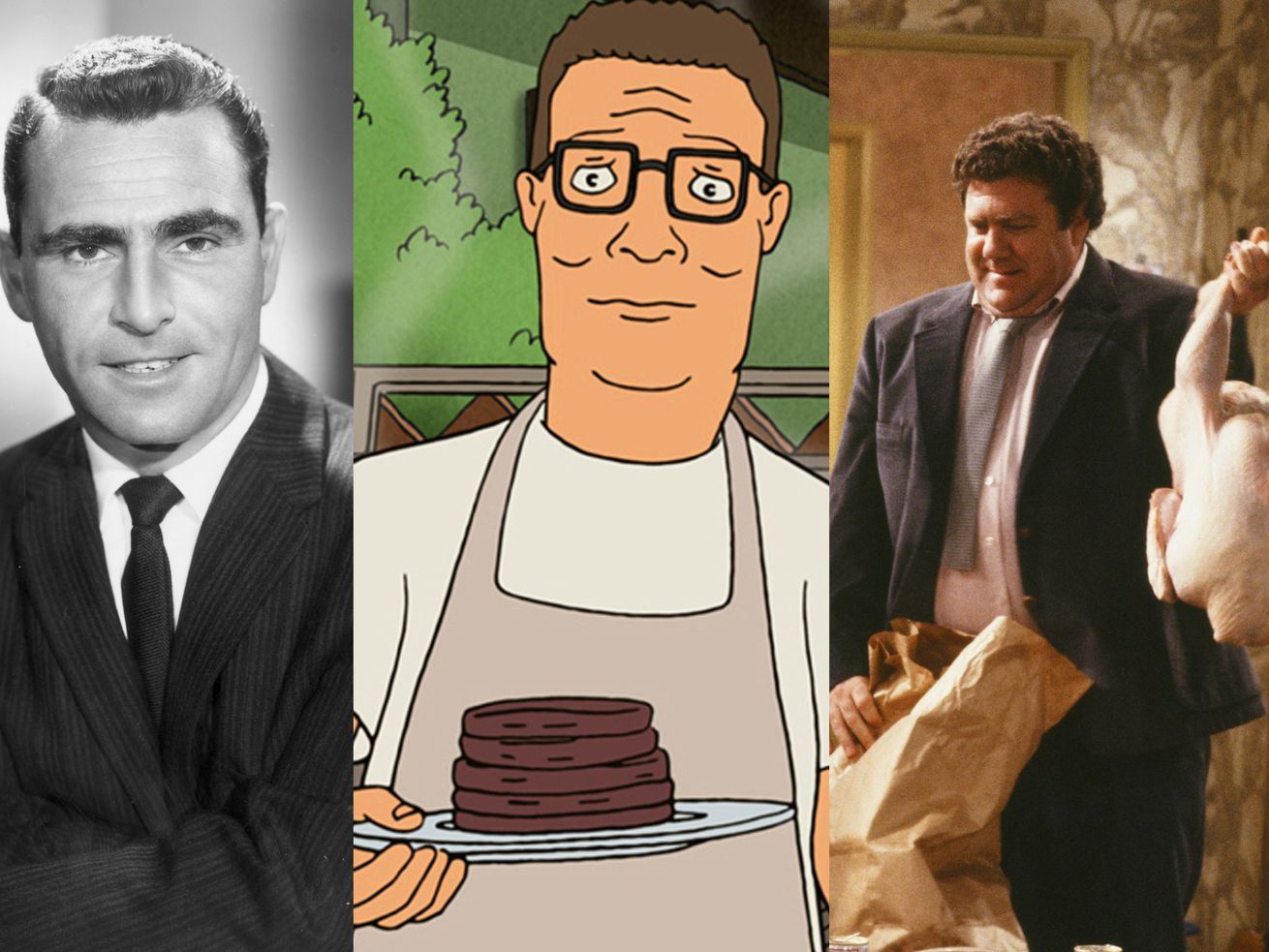 The Twilight Zone, King of the Hill, and Cheers are perfect shows to watch at any level of consciousness.