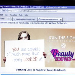 The website beautyredefined.net is part of a campaign that tries to help society think differently about media messages.