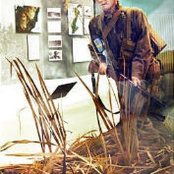 A depiction of an infantryman on Okinawa in 1945 is part of Fort Douglas WWII display.