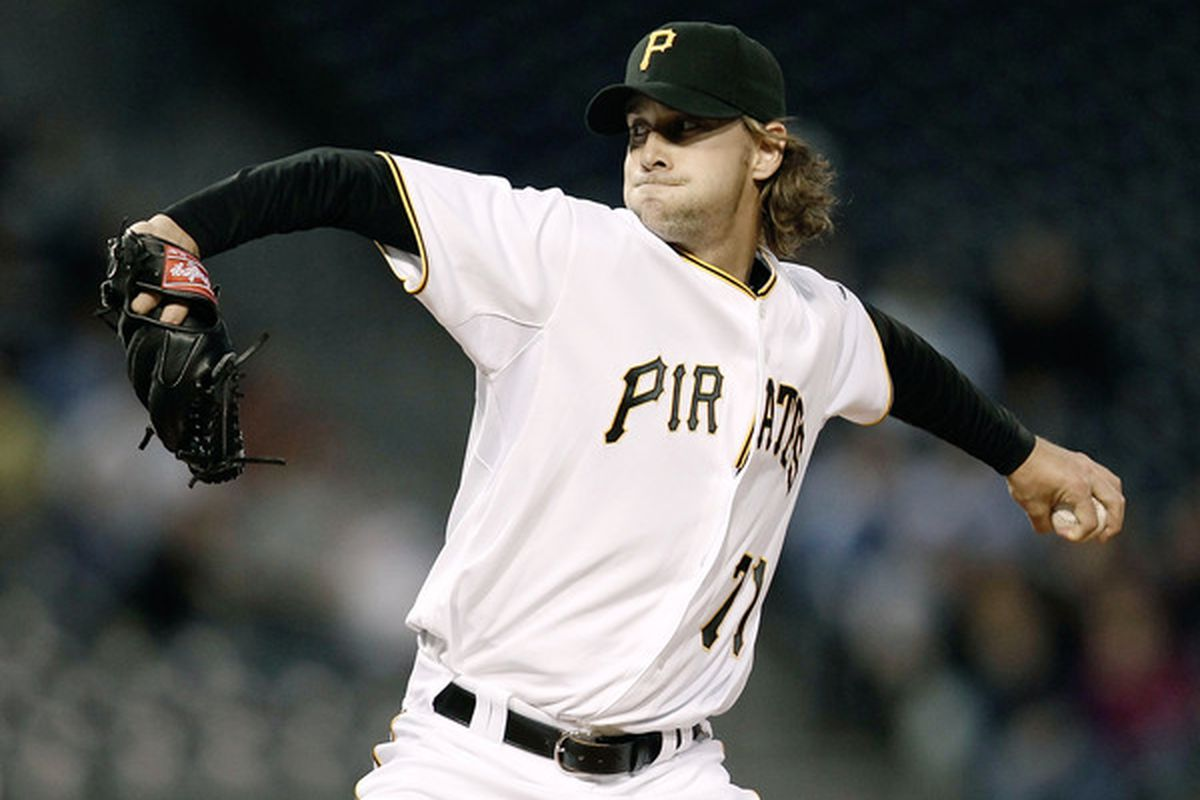 PITTSBURGH - APRIL 20: Brian Burres #71 of the Pittsburgh Pirates pitches against the Milwaukee Brewers during the game on April 20, 2010 at PNC Park in Pittsburgh, Pennsylvania.  (Photo by Jared Wickerham/Getty Images)