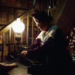 The magic begins in Ollivander's wand shop.