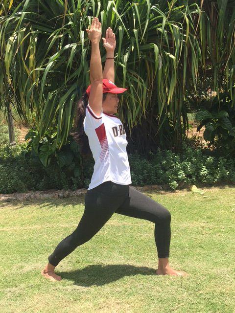 Yoga Pose:  Warrior One