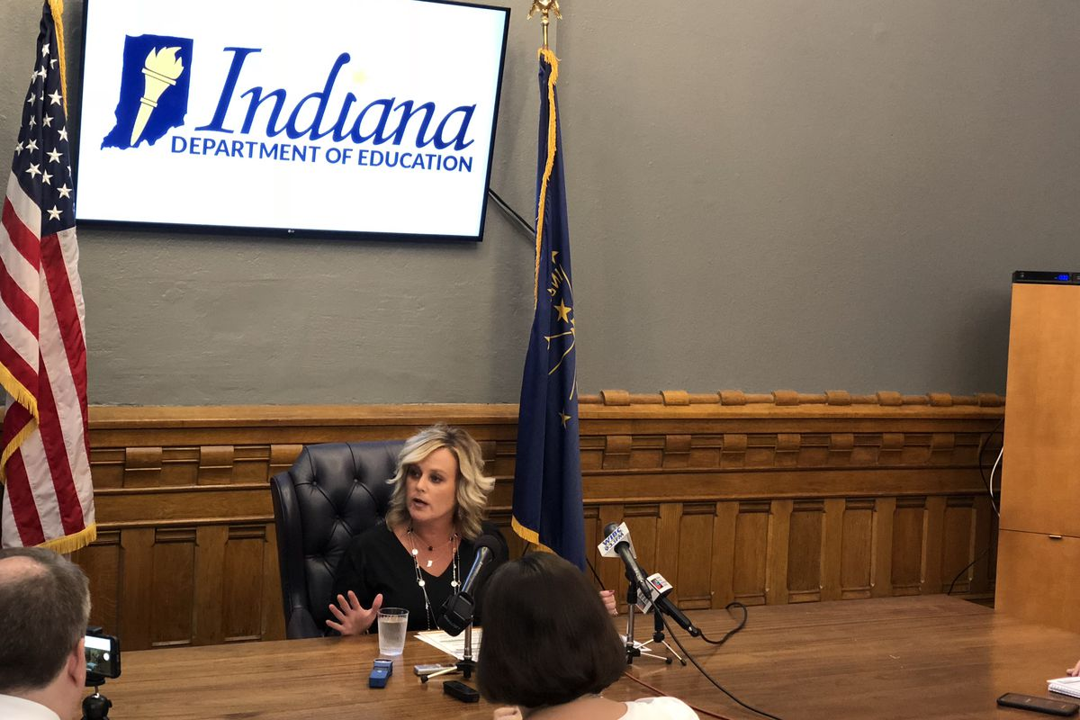 State Superintendent Jennifer McCormick announced she wouldn't seek re-election Monday at a press conference.