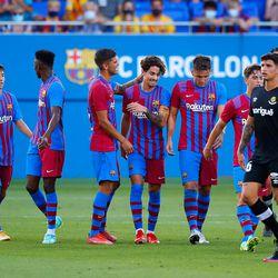 Collado celebrates his goal