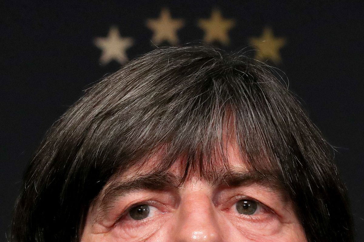 14 November 2018, Saxony, Leipzig: Soccer: Germany, press conference of the national team before the international match against Russia (15.11.) in the Red Bull Academy Leipzig. National coach Joachim 'Jogi' Löw speaks at the press conference.