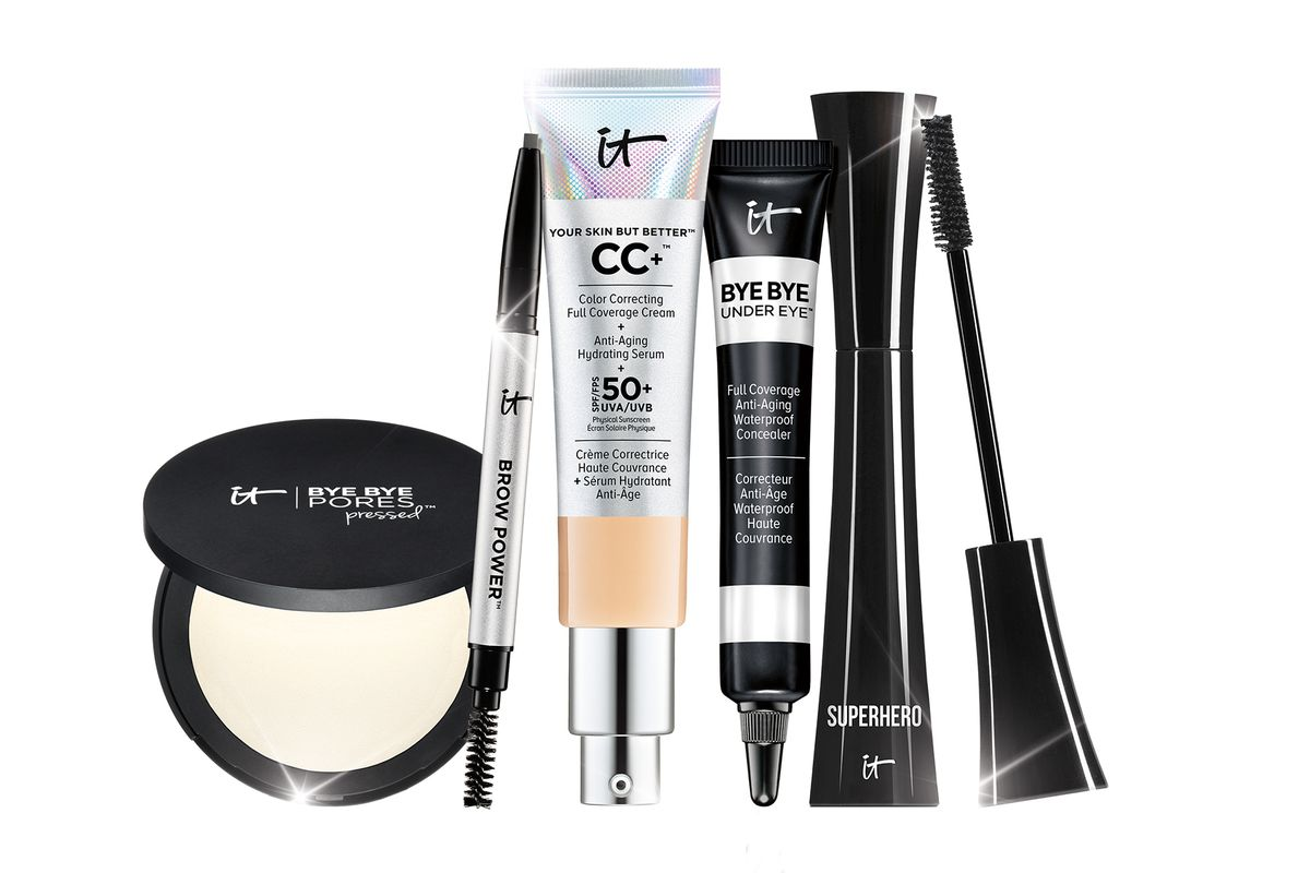 An assortment of IT Cosmetics products