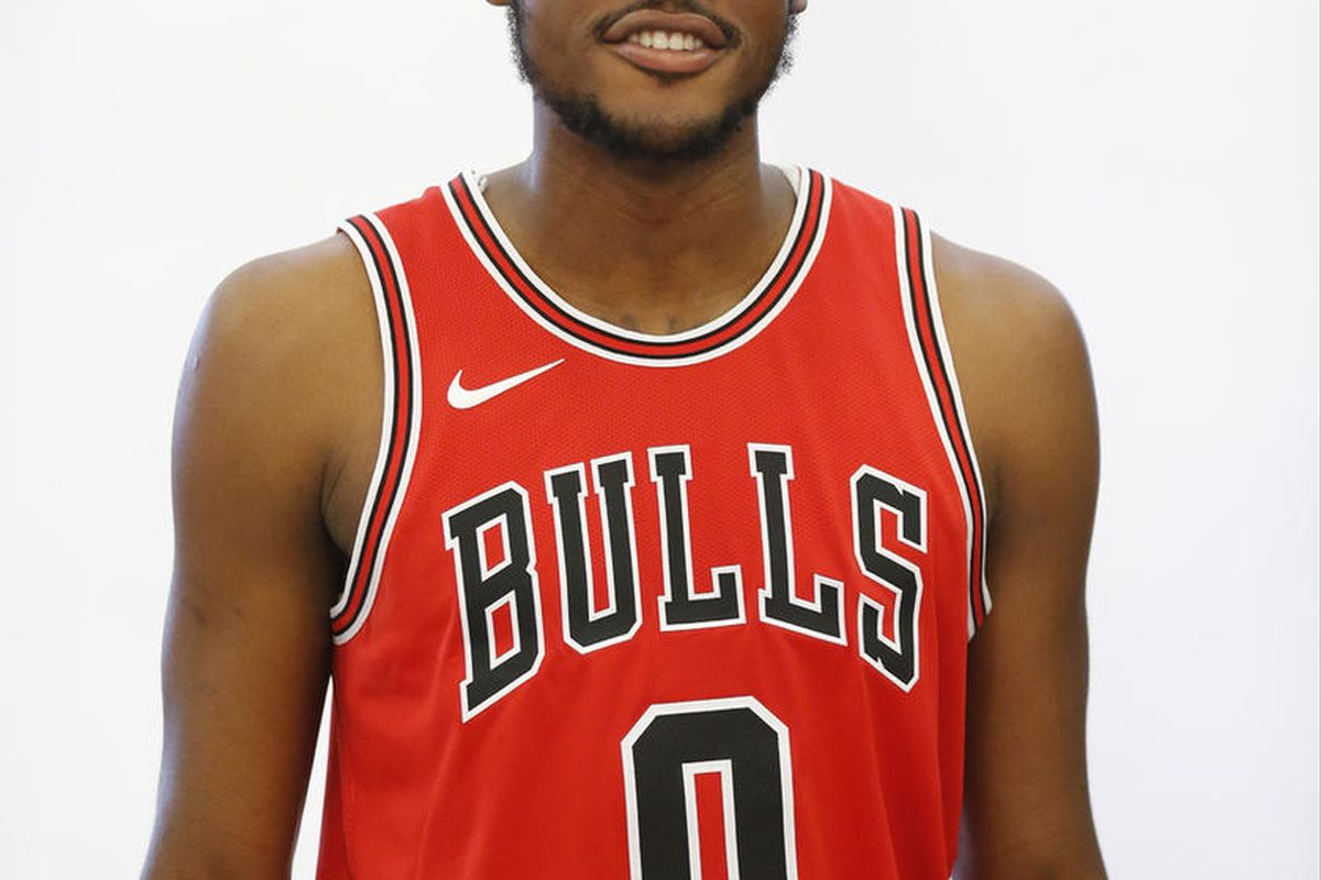 Chicago Bulls' Diamond Stone poses for a portrait during media day for the NBA basketball team Monday, Sept. 25, 2017, in Chicago. (AP Photo/Charles Rex Arbogast)