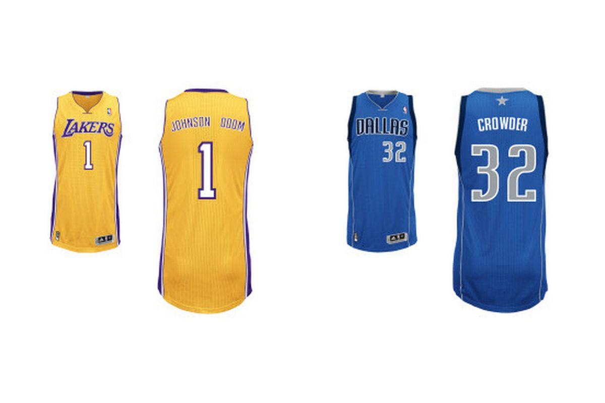 I don't want to hear any complaints about how these jerseys are retired or otherwise in use. It's frigging awesome that DJO & Jae got drafted. Hat tip to Store.NBA.com's jersey customizer for the images.