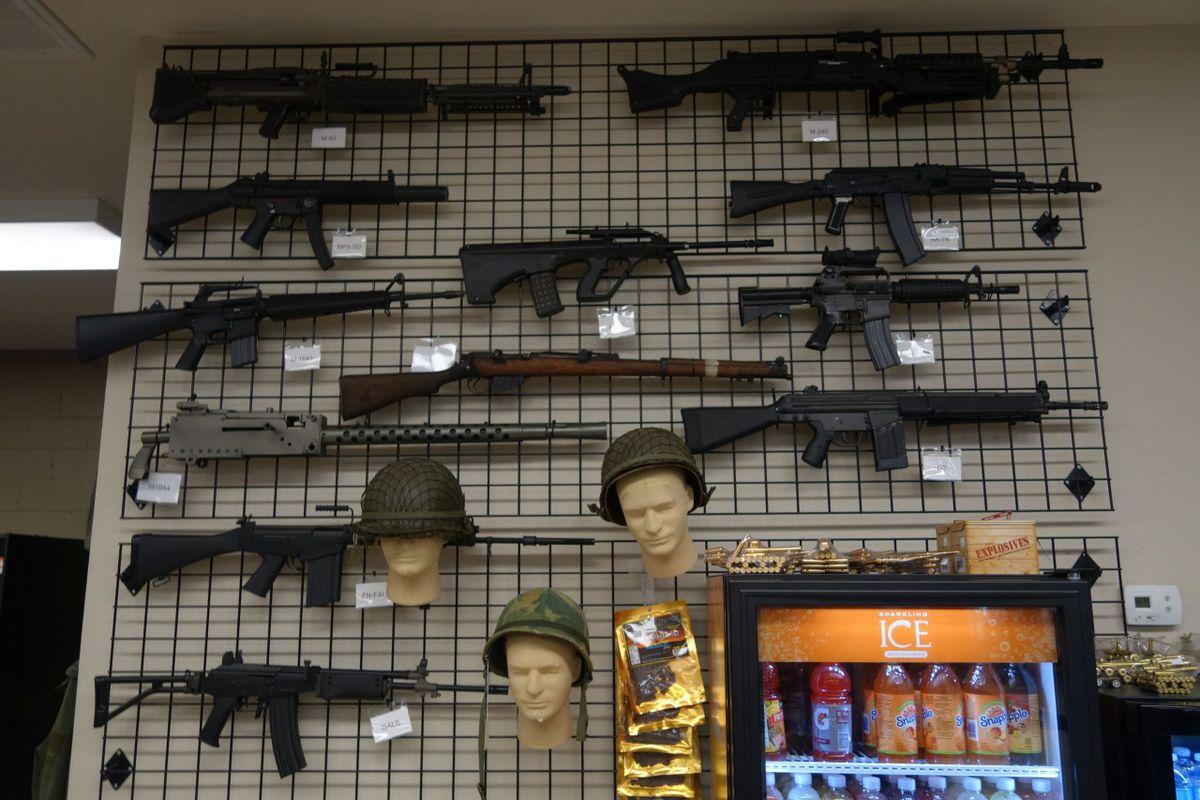 Guns, mannequin heads and beef jerky