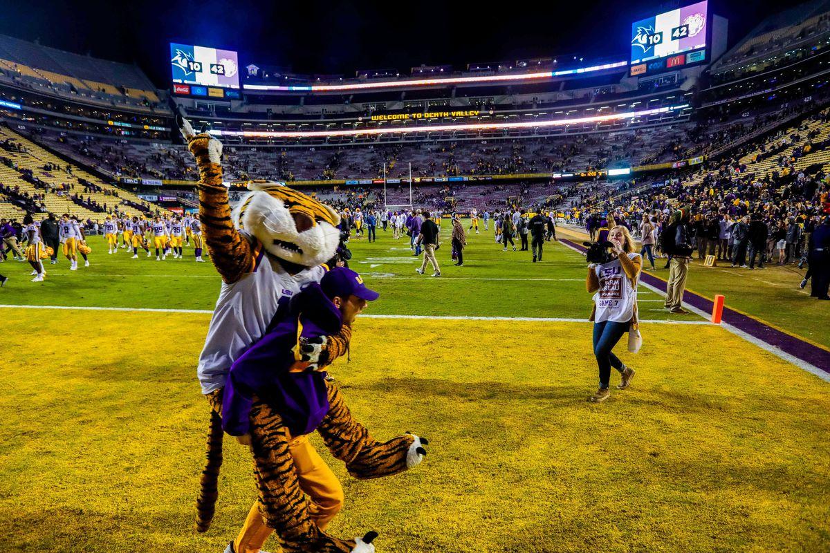NCAA Football: Rice at Louisiana State