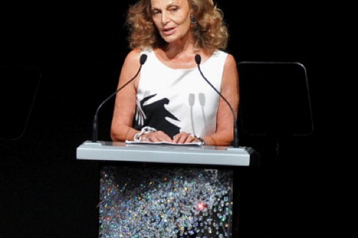President extraordinaire, Diane von Furstenberg at this year's CFDA Awards, via Getty