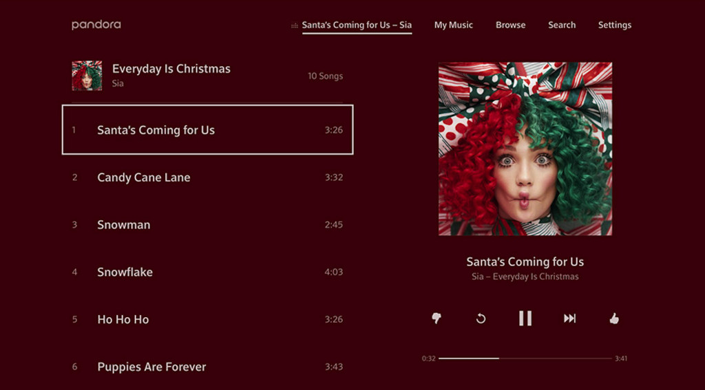 Pandora has overhauled its app on Comcast's Xfinity X1
