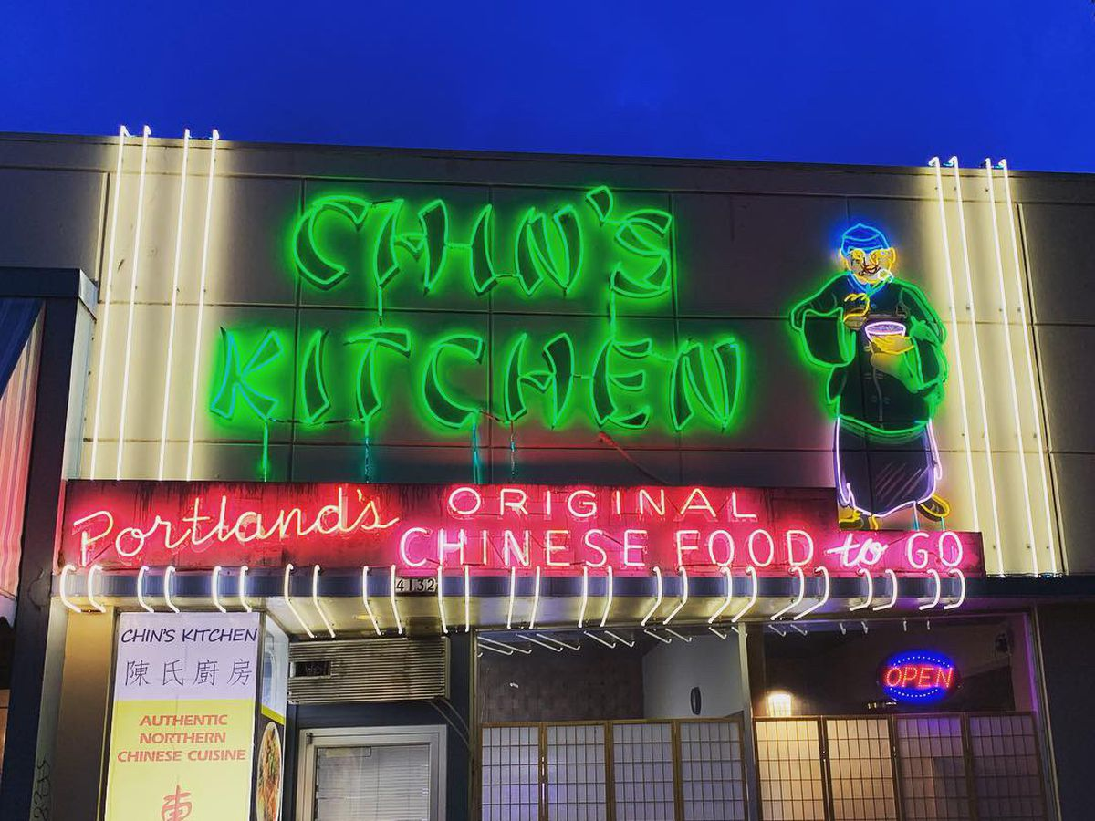 The neon lights of Chin's Kitchen