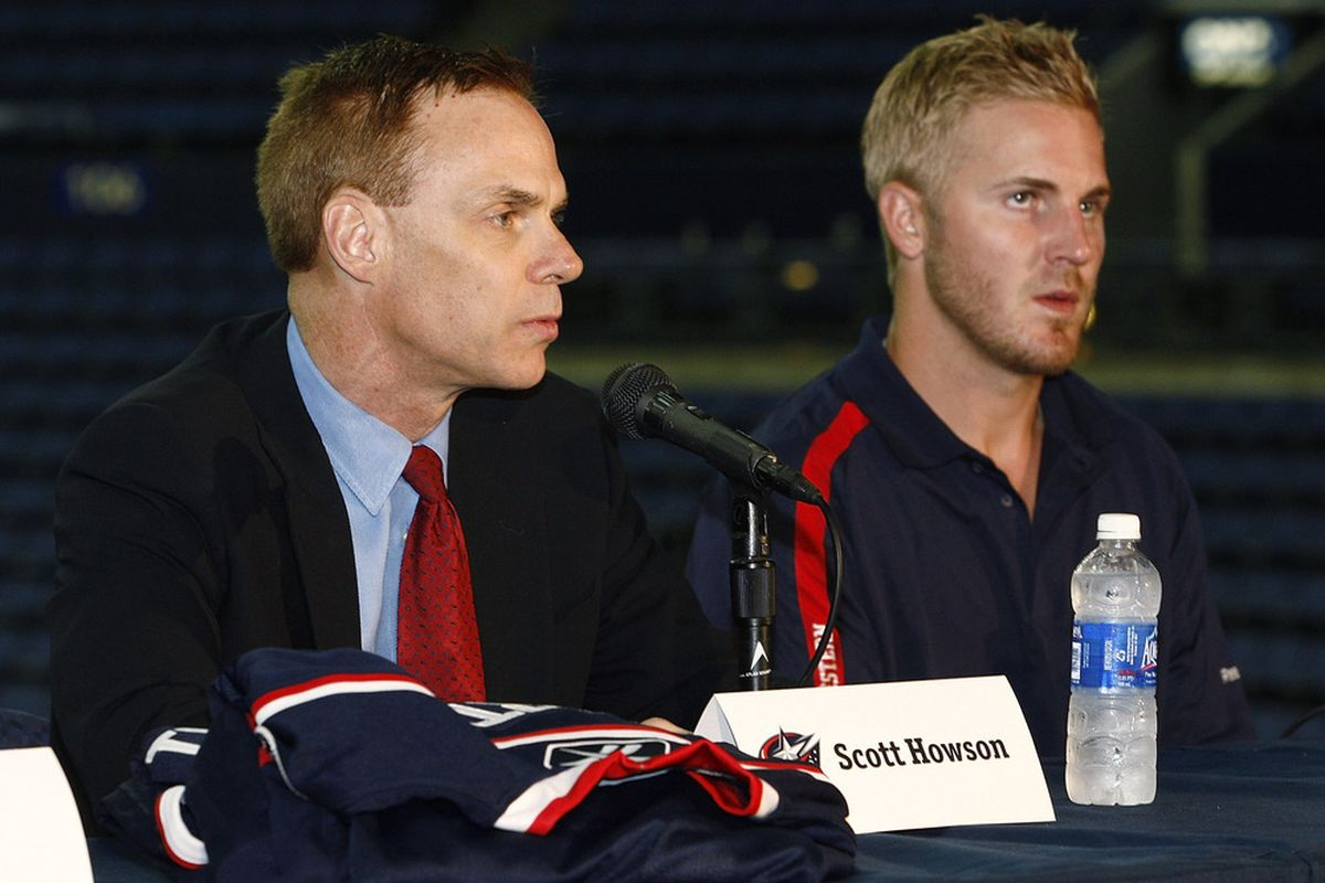 Both of these men want to stay in Columbus. Can Scott Howson make a case that he should remain? (Photo by John Grieshop/Getty Images)