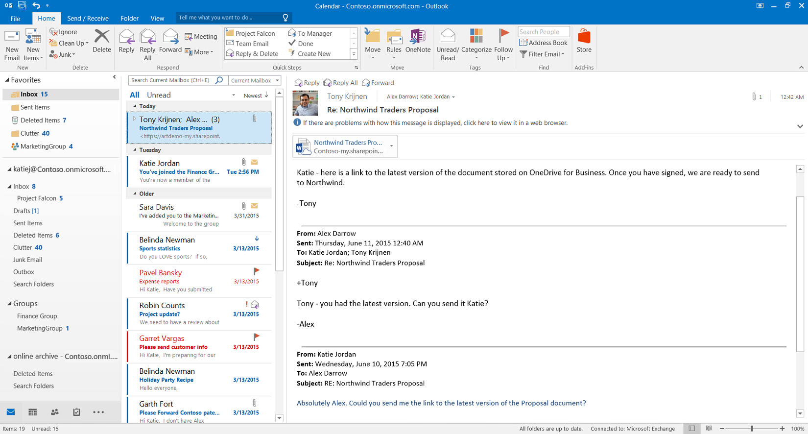 Microsoft office 2016 review the verge for Hotmail email template