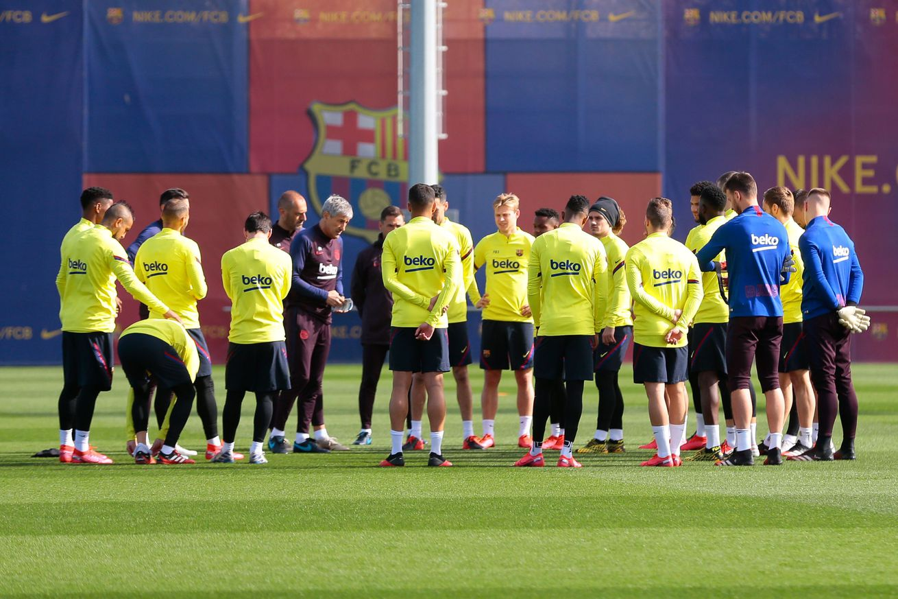 Barcelona to return to full training on Monday