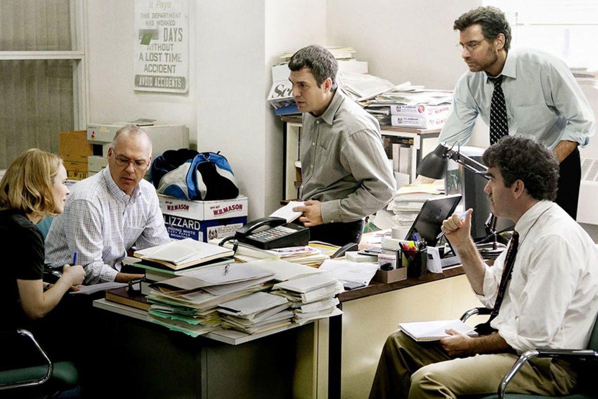 Rachel McAdams, Michael Keaton, Mark Ruffalo, Liev Schreiber, and Brian D'Arcy James in Spotlight